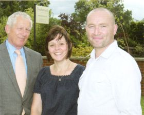 Nick Hewer with Karen and Ian Matthews